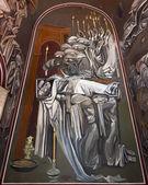 ツァレヴェッツ教会の壁画 — ストック写真