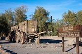 20 mule team vagn tåg i death valley — Stockfoto
