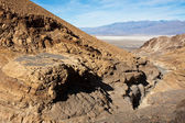 Bovenaanzicht van mozaïek canyon in death valley — Stockfoto