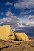 Dramatic Sky over Death Valley Badlands — Stock Photo