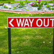 Stock Photo: Way Out Sign in India