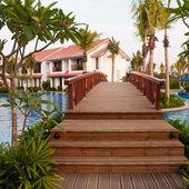 Bridge at a Tropical Resort — Stock Photo