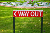 Way Out Sign in India — Stock Photo