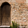 Stock Photo: Old Church Backdoor