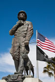 General Patton Statue and Flags — Stock Photo