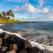 Poipu Beach Panorama - Stock Photo