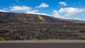 большой остров гавайи лавовые поля — Стоковое фото