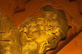 Communist Meeting Bas-Relief — Stock Photo