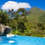 piscina do vulcão arenal — Foto Stock