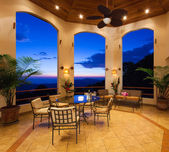 Beautiful Patio at Sunset — Foto de Stock