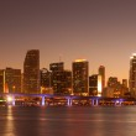 Miami at Sunset — Stock Photo