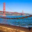 Ponte Golden gate de manhã — Foto Stock