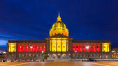 San Franicisco City Hall in Red and Gold — Stok fotoğraf