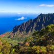 Kalalau Valley in the Morning - Stock Photo