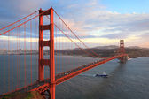Golden gate bridge e la baia di san francisco — Foto Stock