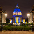 San Franicisco City Hall in Blue and Gold — Stock Photo