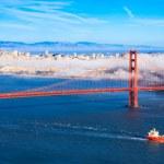 Fog over San Francisco — Stock Photo