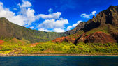Kalalau vallei vanaf de oceaan — Stockfoto