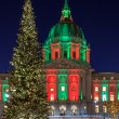 Christmas Tree at San Francisco City Hall — Photo