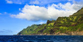 Green Kauai Coastline — Stock Photo