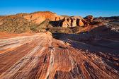 Striati rocce nella valle del fuoco — Foto Stock