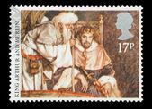 King Arthur and Merlin — Stock Photo