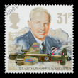 Stock Photo: Sir Arthur Harris and RAF Lancaster