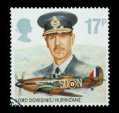 Lord Dowding and RAF Hurricane — Stock Photo