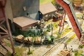 Logging yard — Stock Photo
