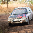 Honda Civic rally car - Stock Photo