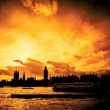 Stock Photo: Great fire of london