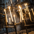 Gothic candles — Stock Photo