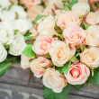 Silk roses — Stock Photo