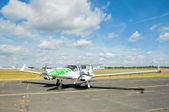 Green energy aviation — Stock Photo