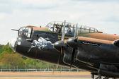 Lancaster bomber closeup — Stock Photo