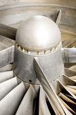 Jet engine blades — Stock Photo