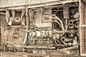 Rusted machine parts — Stock Photo