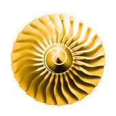 Jet engine sunshine — Stock Photo