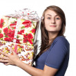 Royalty-Free Stock Photo: Woman holding a gift box