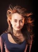 Porträt einer schönen jungen Frau o — Stockfoto