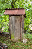 Rustic old wooden toilet — Stock Photo
