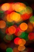 Bokeh achtergrond van christmaslight — Stockfoto