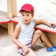 Portrait of a 3-4 years boy - Stockfoto