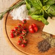 Ingredients of Italian cuisine — Stock Photo