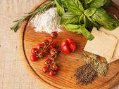 Ingredients of Italian cuisine — Stock Photo