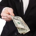 pieniądze na dłoni — Zdjęcie stockowe
