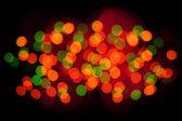 Bokeh pozadí vánoční světla — Stock fotografie