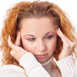 Woman suffering from headache — Foto de Stock