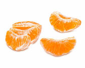 Slices of juicy tangerine — Stock Photo