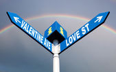 Valentine ave and love st — Stock Photo